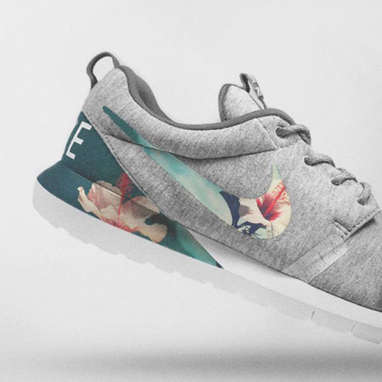 تصویر از Nike Floral Roshe Customized Running Shoes